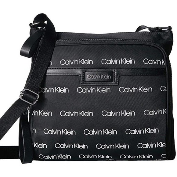 Calvin Klein Lane Messenger Crossbody Black White